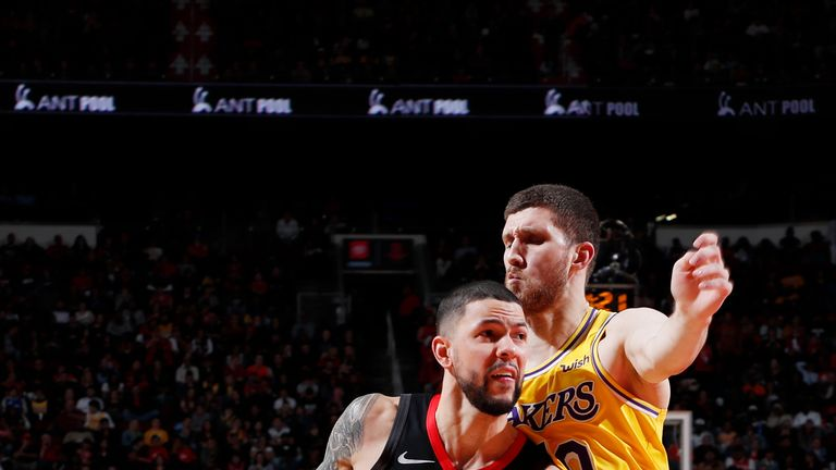 Austin Rivers #25 of the Houston Rockets handles the ball against the Los Angeles Lakers on January 19, 2019 at the Toyota Center in Houston, Texas.