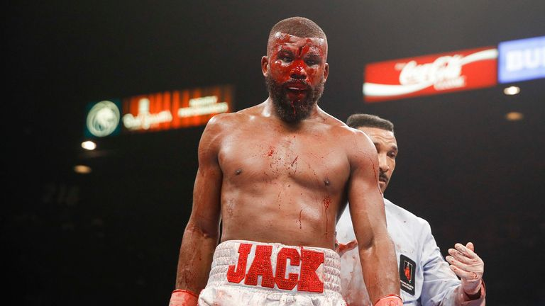 Badou Jack suffered a bad cut in the sixth round against Browne