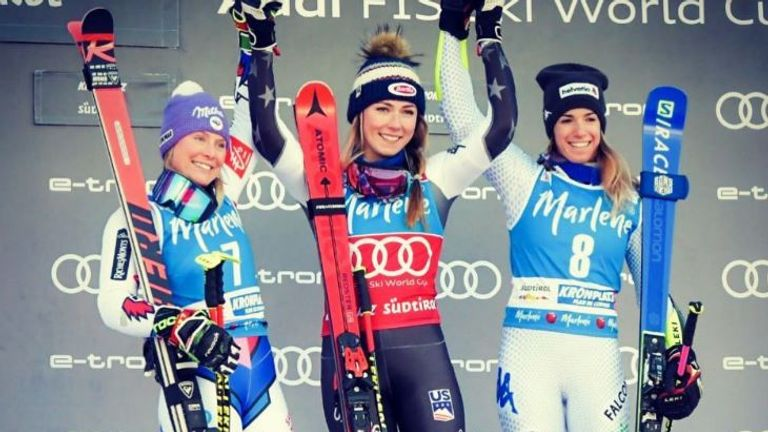 Marta Bassino (right) has made it two podiums in two years at Kronplatz
