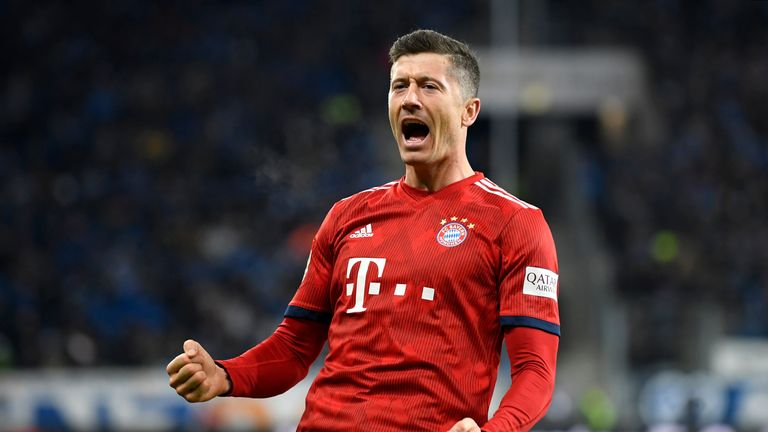 Robert Lewandowski scored in Bayern's victory