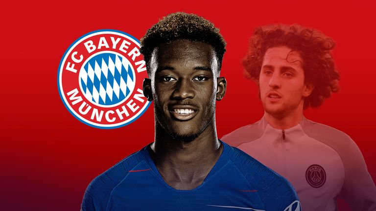 Callum Hudson-Odoi and Adrien Rabiot are both targets for Bayern Munich