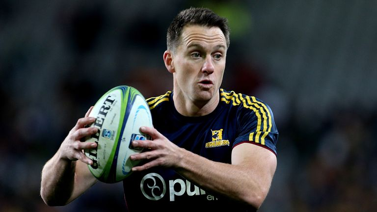 The Highlanders ' Ben Smith in action during their Super Rugby clash with the Hurricanes in Dunedin last year