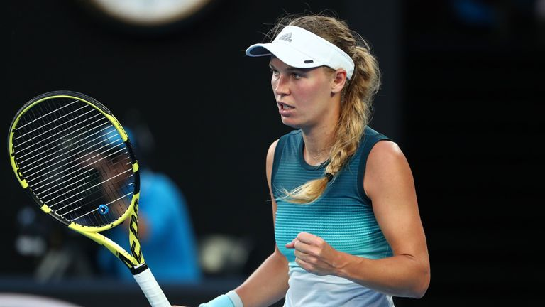 Caroline Wozniacki defeated Simona Halep in last year's final