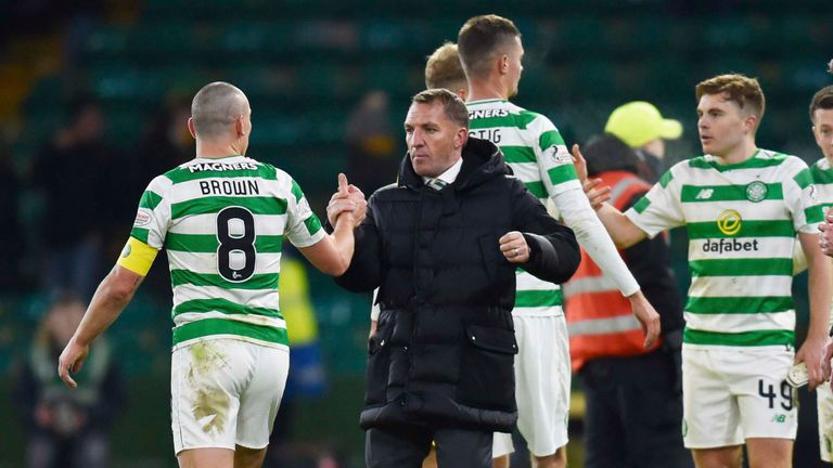 Rodgers won seven domestic trophies from a possible seven during his time at Celtic