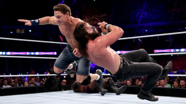 John Cena was hurt in a multi-man match on Raw two weeks ago and