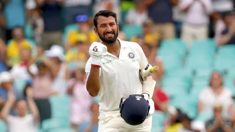 Kohli says Cheteshwar Pujara (pictured) was 'outstanding ' in the series