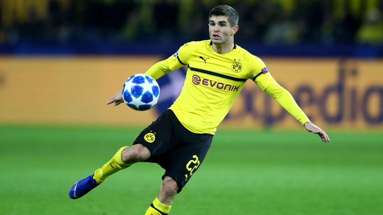 Christian Pulisic won the German Cup with Dortmund in 2017