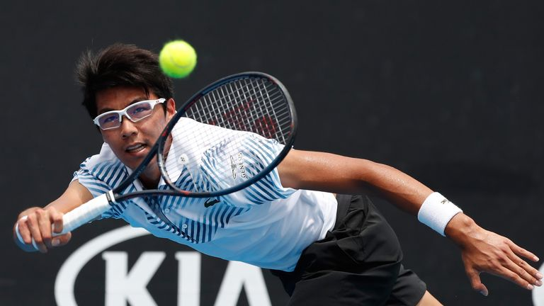Hyeon Chung sealed a fine comeback win over American Bradley Klahn