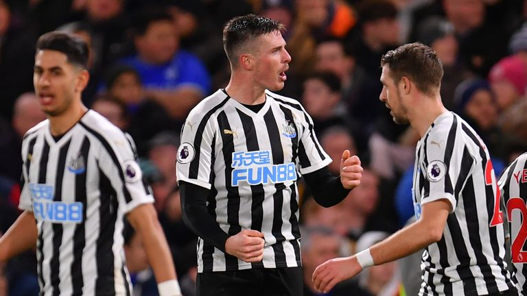 Ciaran Clark scored for Newcastle in their 2-1 defeat at Chelsea