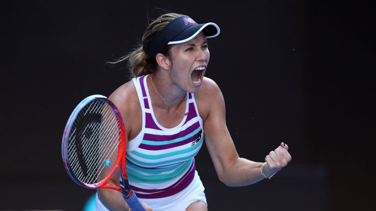 Danielle Collins fights back to reach first-ever Grand Slam semi-final