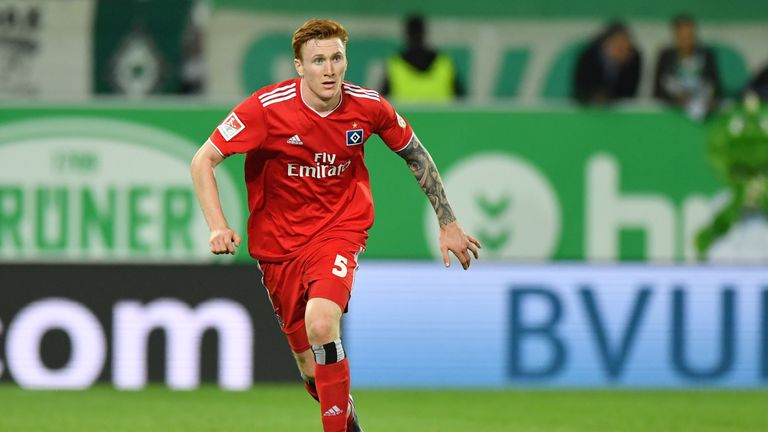 David Bates is enjoying life at Hamburg after moving to Germany from Rangers