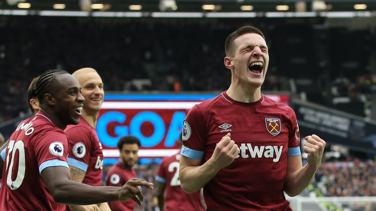 Declan Rice has impressed for West Ham this season