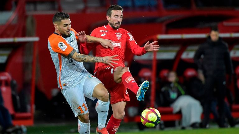 Montpellier were held to a draw by Dijon on Sunday