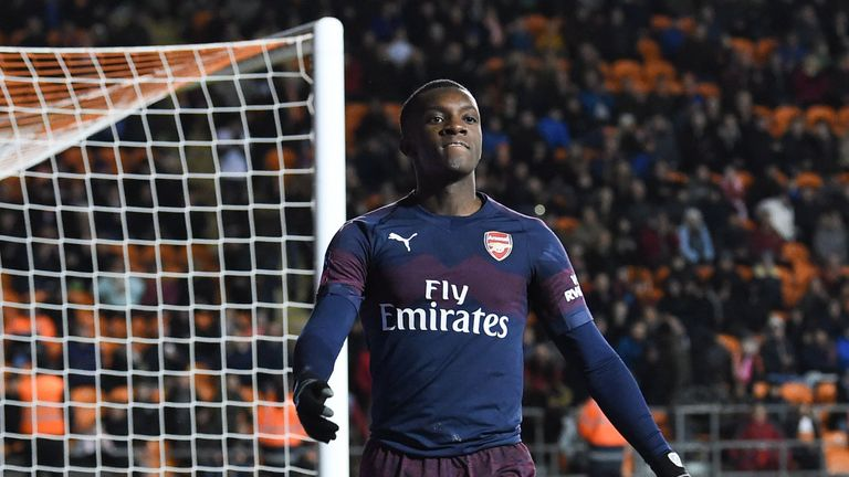 Eddie Nketiah has been used by Unai Emery in the cup competitions