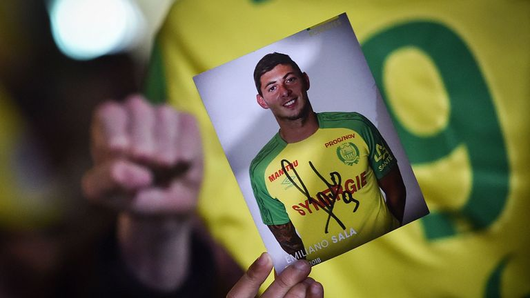 Rescuers end search for missing plane carrying Emiliano Sala