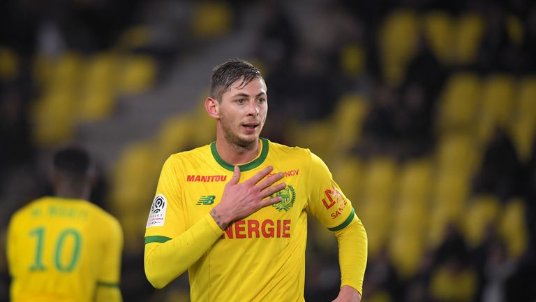 Nantes' Emiliano Sala has flown back to France following talks with Cardiff