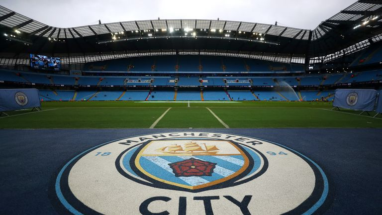 General view of Manchester City's Etihad Stadium