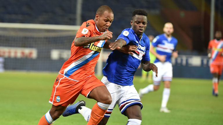 Ronaldo Vieira has enjoyed a taste of first-team action for Sampdoria