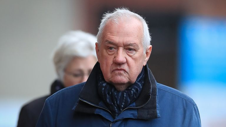 Hillsborough match commander David Duckenfield, who is accused of the manslaughter by gross negligence of 95 Liverpool supporters at the 1989 FA Cup semi-final, arriving Preston Crown Court