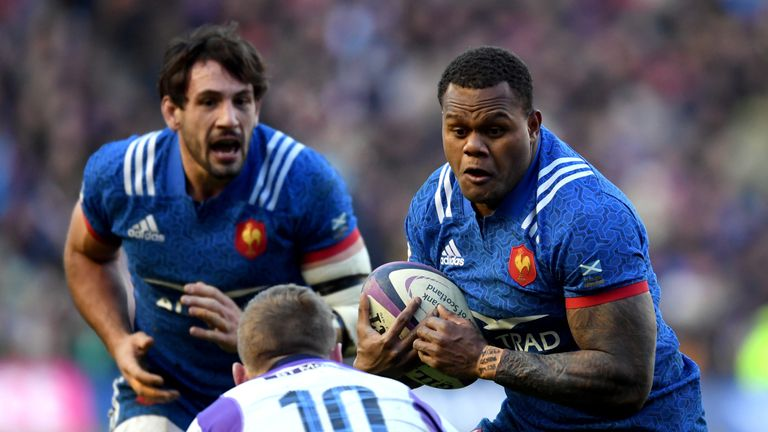 France back Virimi Vakatawa will provide a formidable cutting edge