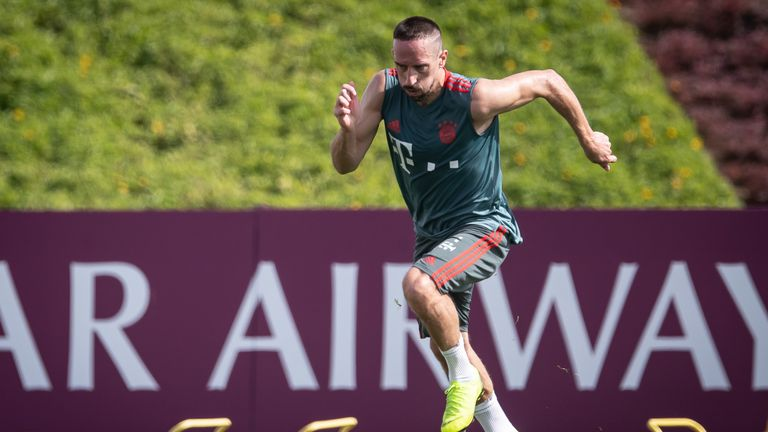 Franck Ribery has been with Bayern Munich at their Doha training camp