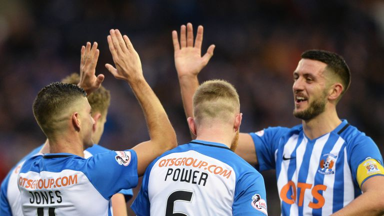 Midfielders Gary Dicker (right) and Alan Power have been central to Kilmarnock's hard-working style