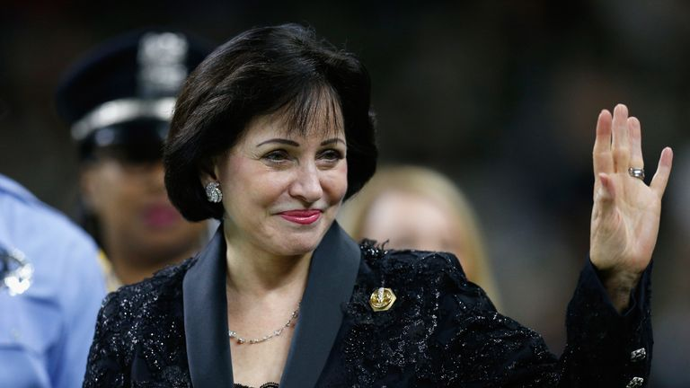 Gayle Benson at Mercedes-Benz Superdome on September 16, 2018 in New Orleans, Louisiana.