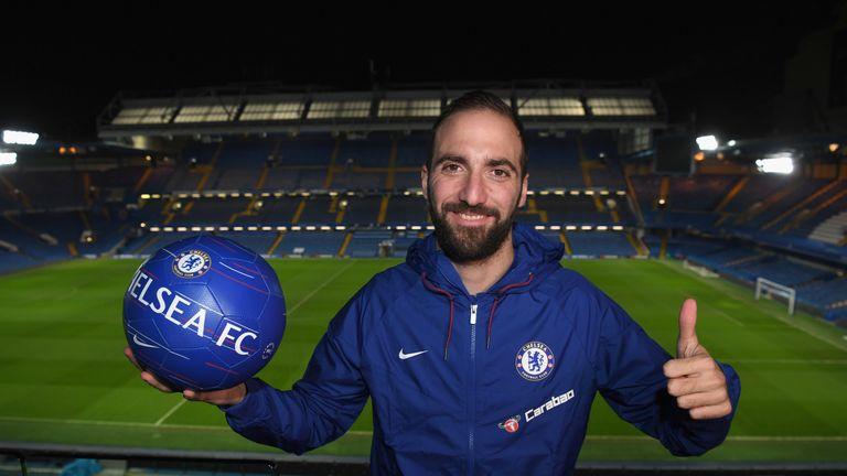 Gonzalo Higuain has joined Chelsea on loan