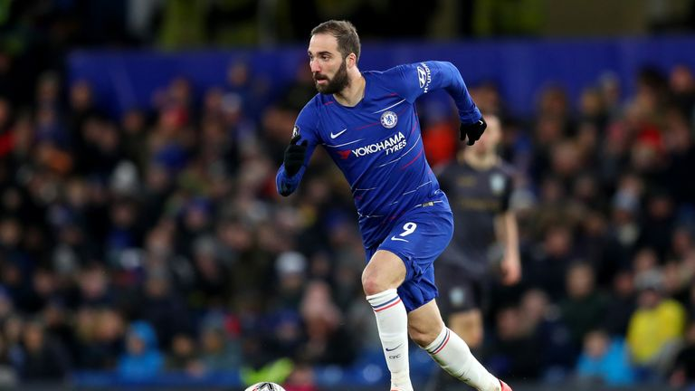Gonzalo Higuain made his debut against Sheffield Wednesday in the FA Cup
