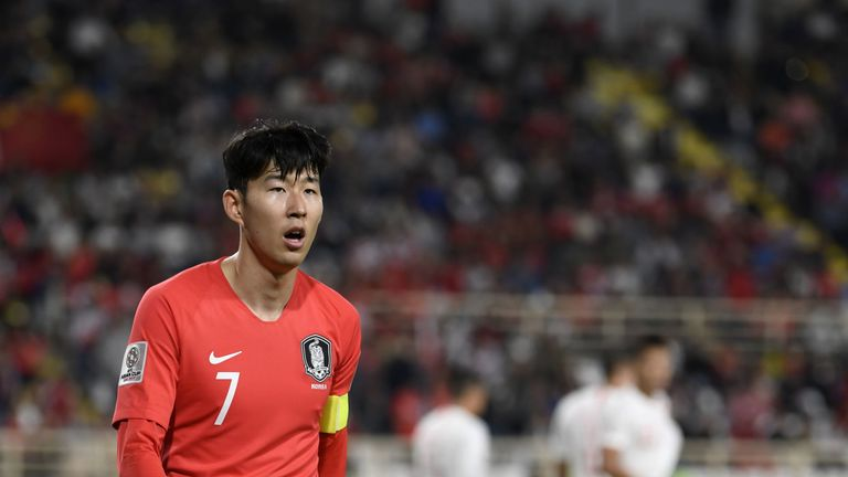 Heung-Min Son started for South Korea against China