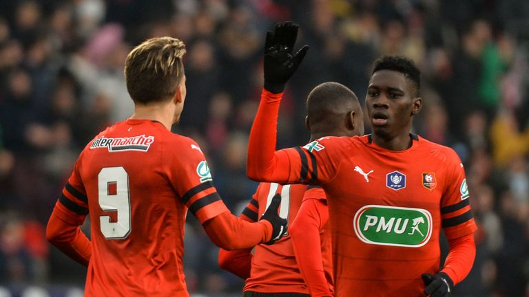 Ismaila Sarr scored 12 goals for Rennes last season