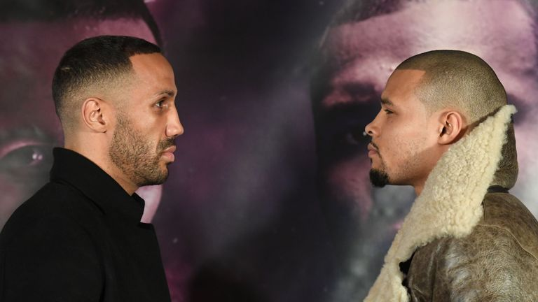 James DeGale and Chris Eubank Jr. face off