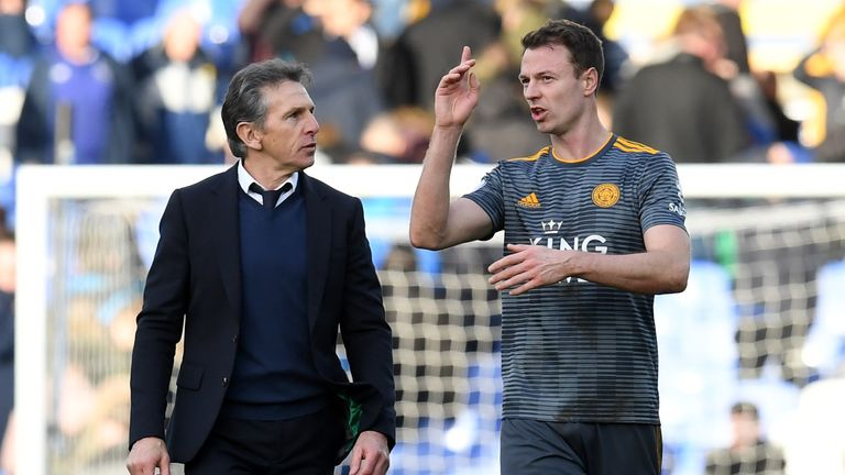 Jonny Evans was outstanding for Leicester City