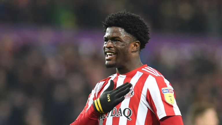Josh Maja in action for Sunderland