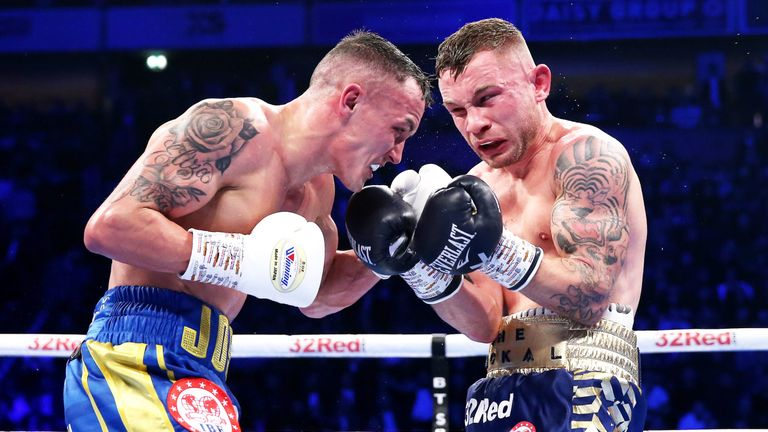 Warrington earned praise for his points win over the Belfast fighter