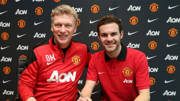 Juan Mata signed for Manchester United when David Moyes was manager in 2014