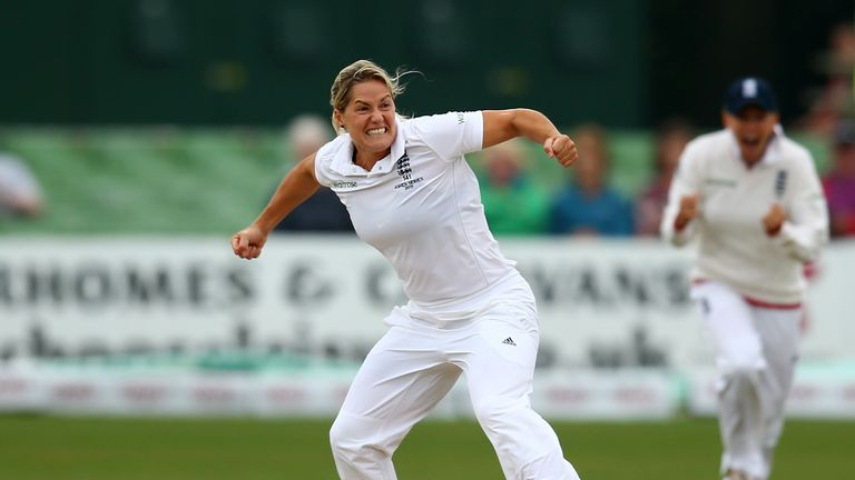 Katherine Brunt took four wickets across two innings during England's loss to Australia in the Test match in 2015