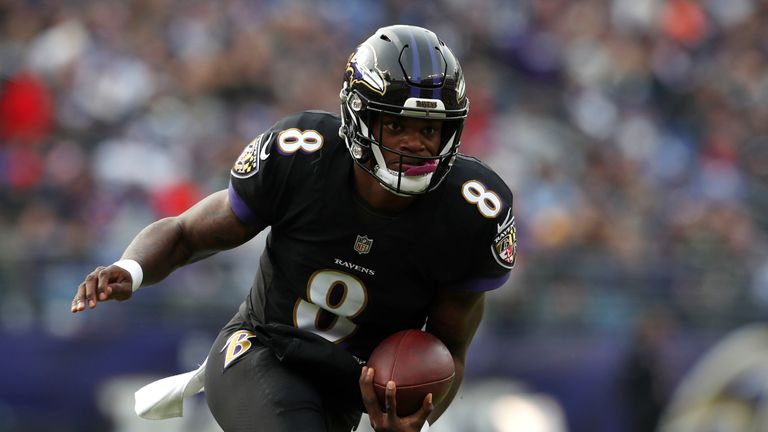 Lamar Jackson took over from Joe Flacco as the Ravens' starting QB last season
