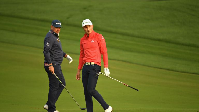 Lee Westwood played alongside Haotong Li during the opening round