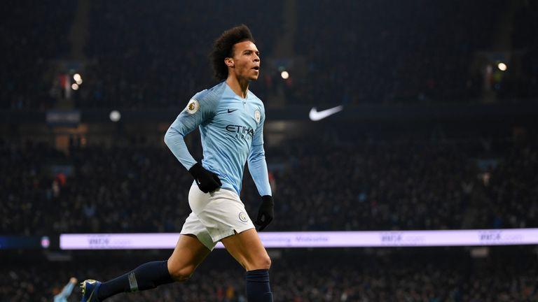 Leroy Sane has contributed to a distinct hotspot of activity down Manchester City's left channel