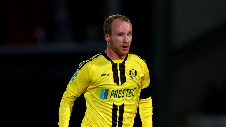 Liam Boyce is one of two Burton players capped at senior international level