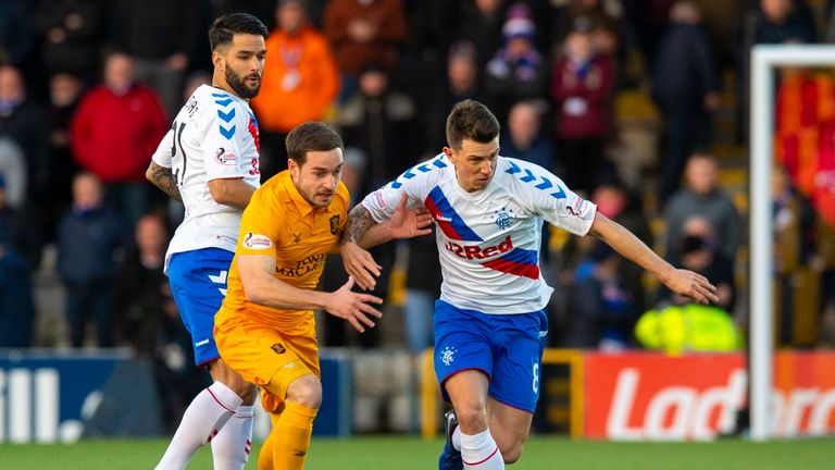 Livingston's Scott Pittman (left) has scored five goals in his forty appearances for the club this season