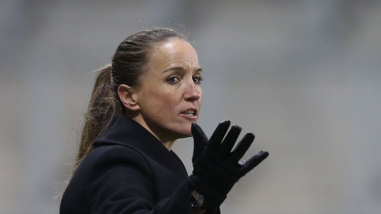 Manchester United Women's manager Casey Stoney