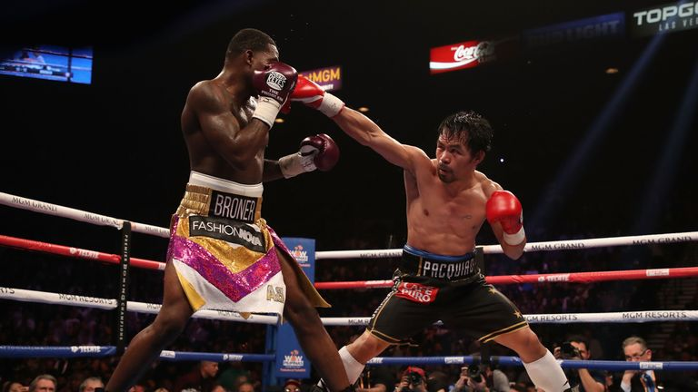 Pacquiao was always pressing forward