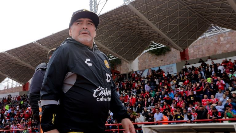 Diego Maradona Hospitalized Due to Stomach Bleeding