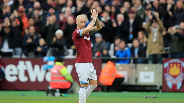 Arnautovic appeared to wave goodbye to the home fans when he was substituted