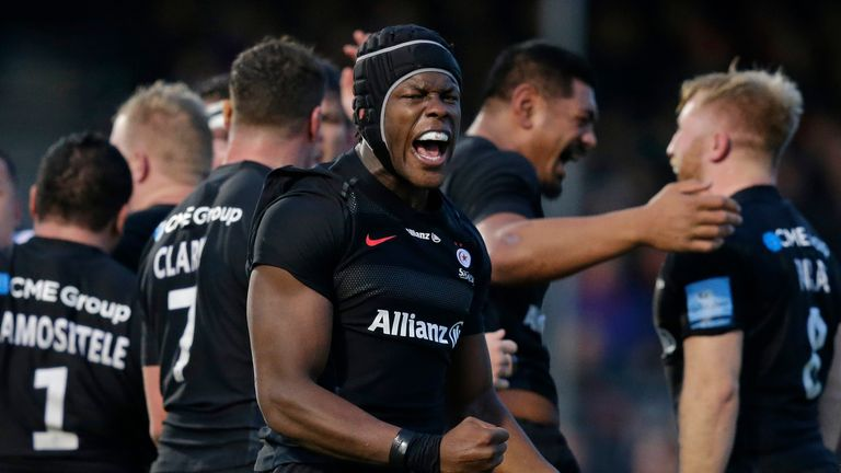 Maro Itoje is among a number of England internationals at Saracens