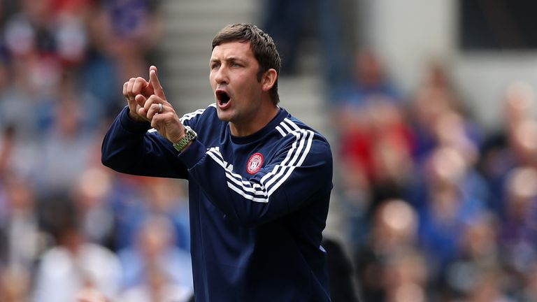 Martin Canning leaves Hamilton following the 3-0 defeat at Celtic