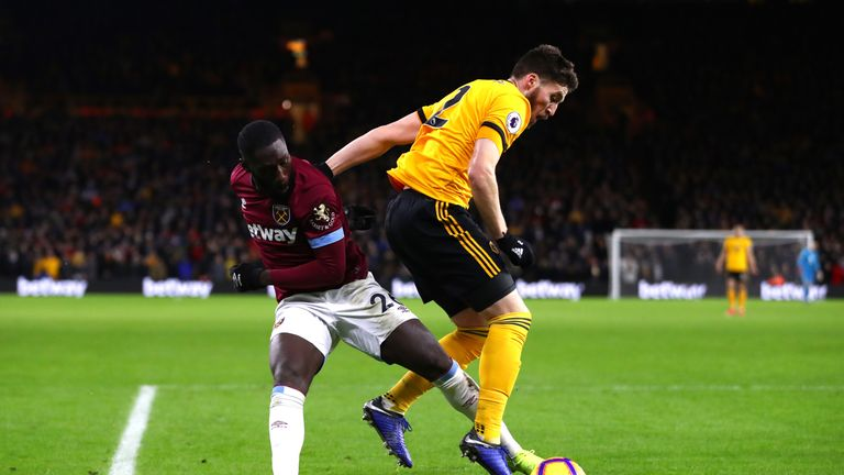 Matt Doherty had a strong shout for a penalty in Wolves' win over West Ham