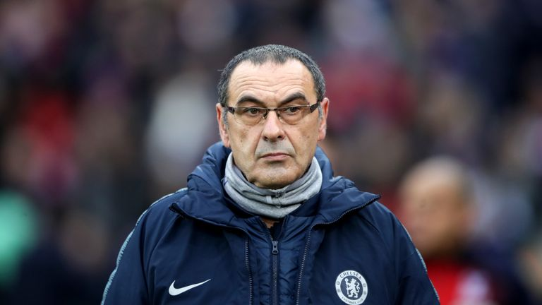 Maurizio Sarri was enraged by the performance of his Chelsea side at Arsenal